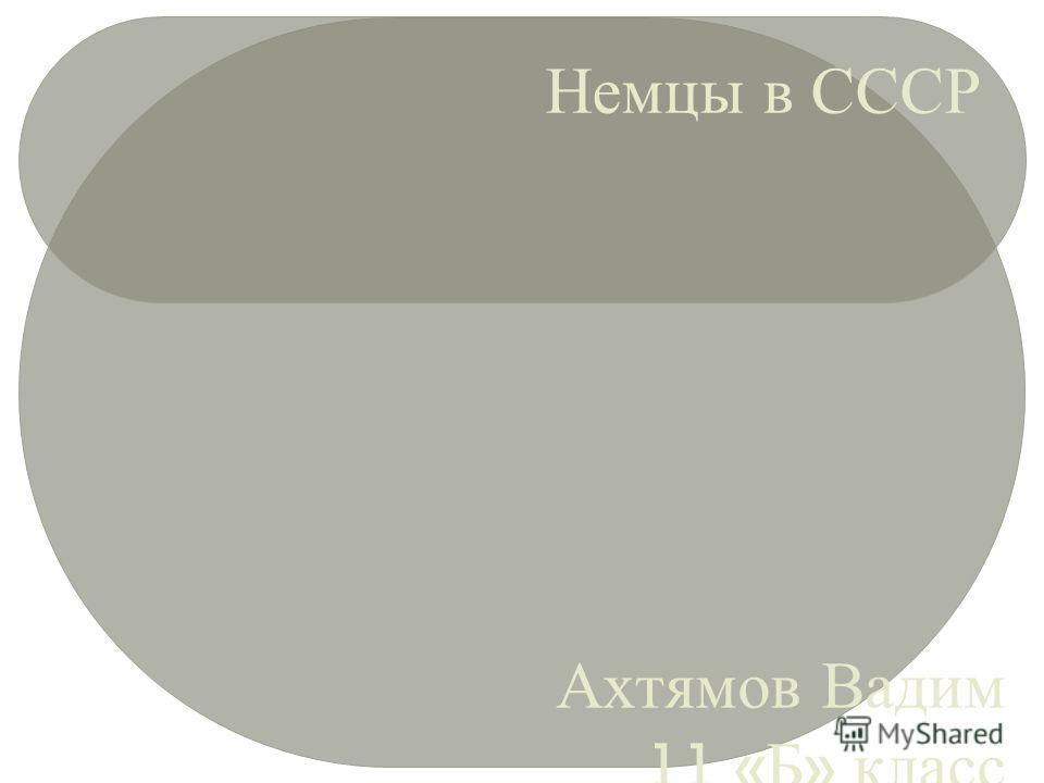 Немцы в СССР Ахтямов Вадим 11 « Б » класс