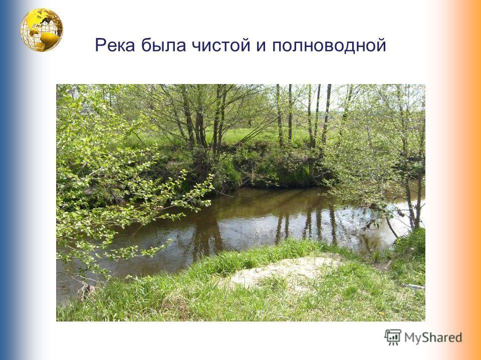Река была чистой и полноводной