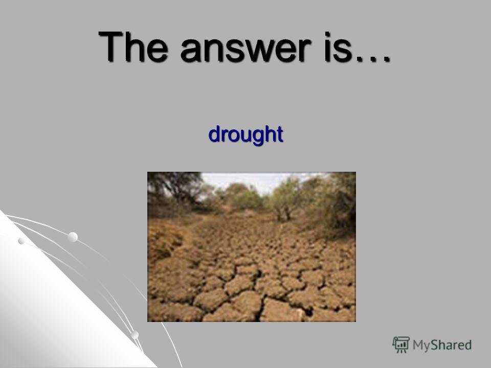 The answer is… drought