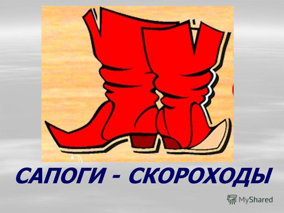 САПОГИ - СКОРОХОДЫ