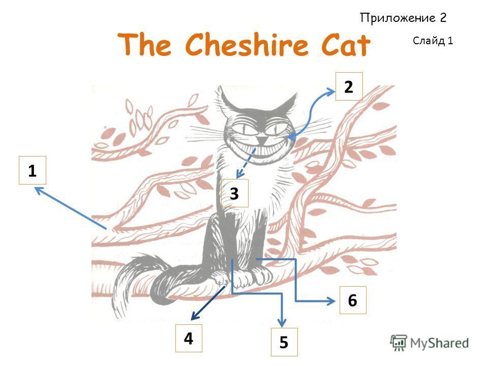 The Cheshire Cat 1 2 3 6 5 4 Приложение 2 Слайд 1