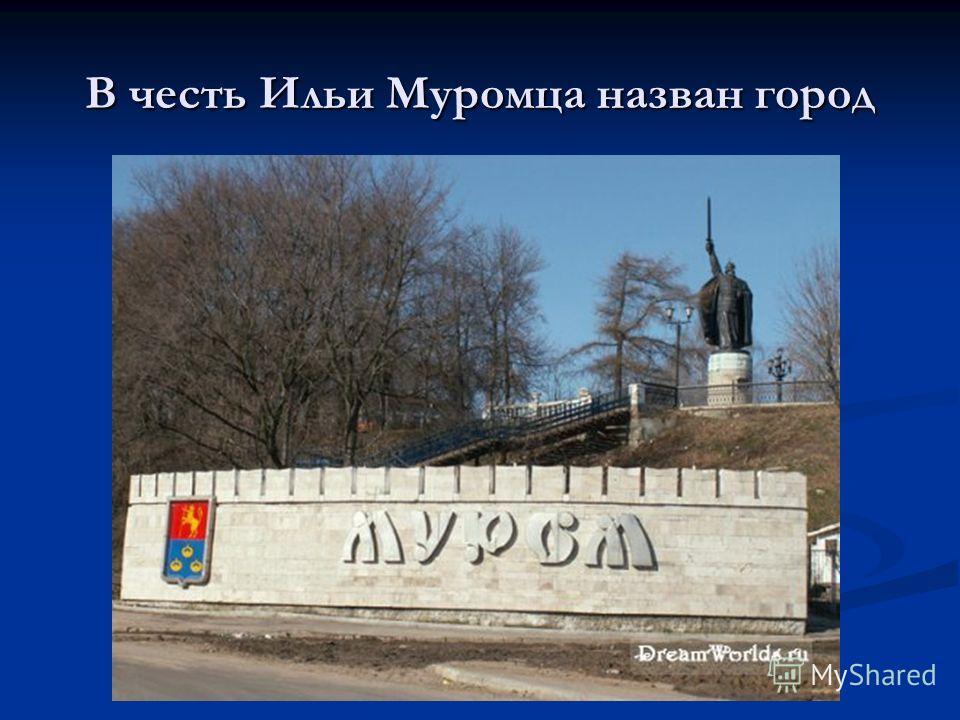В честь Ильи Муромца назван город