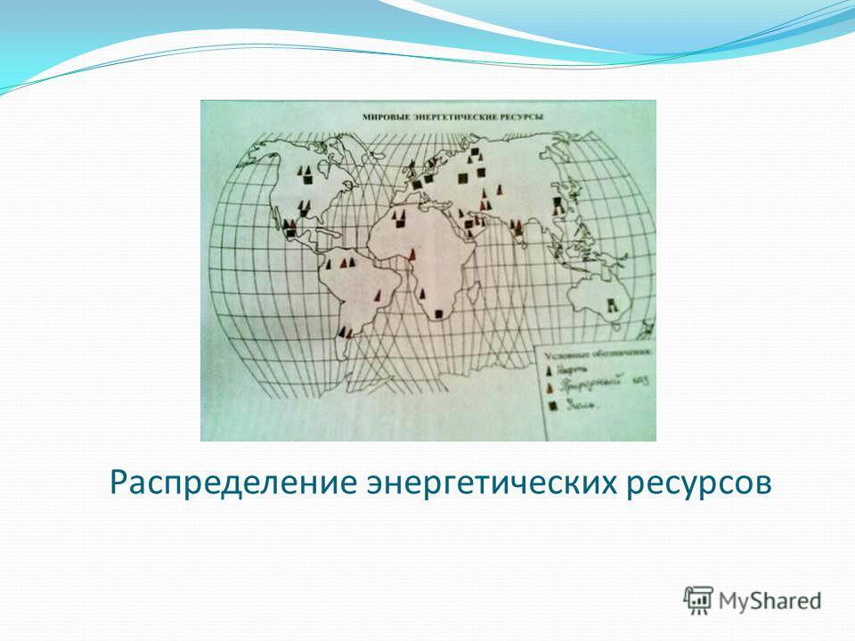 Распределение энергетических ресурсов