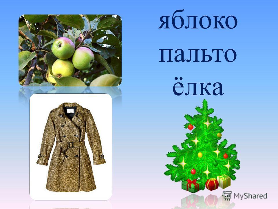 яблоко пальто ёлка