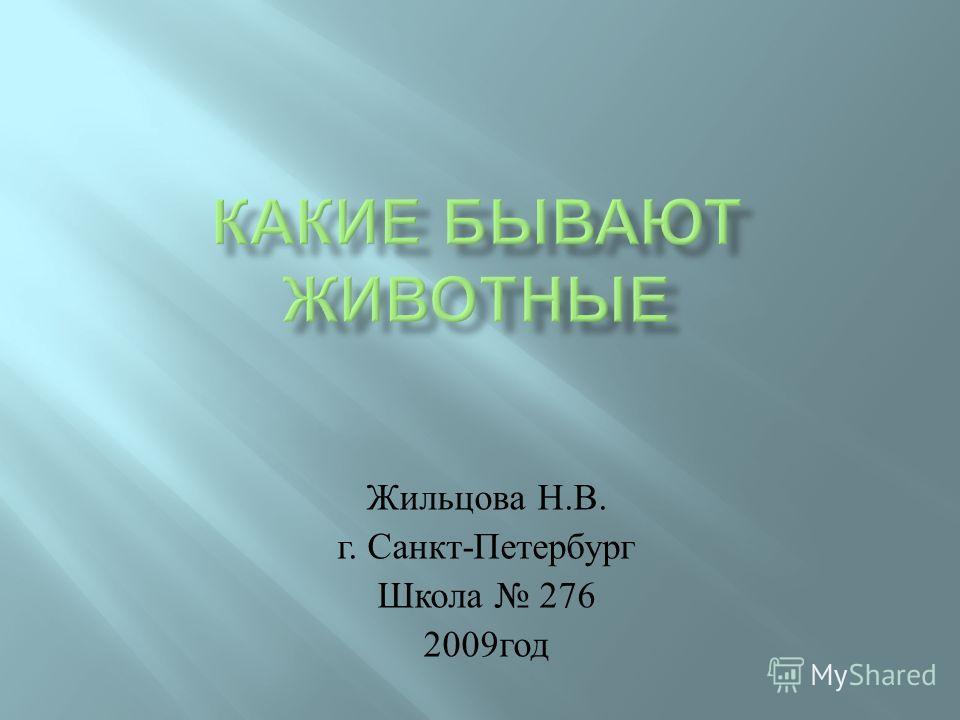 Жильцова Н. В. г. Санкт - Петербург Школа 276 2009 год