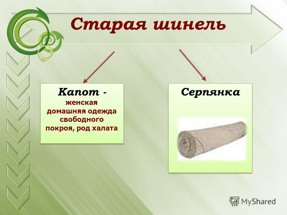 Старая шинель Капот - Серпянка женская домашняя одежда свободного покроя, род халата