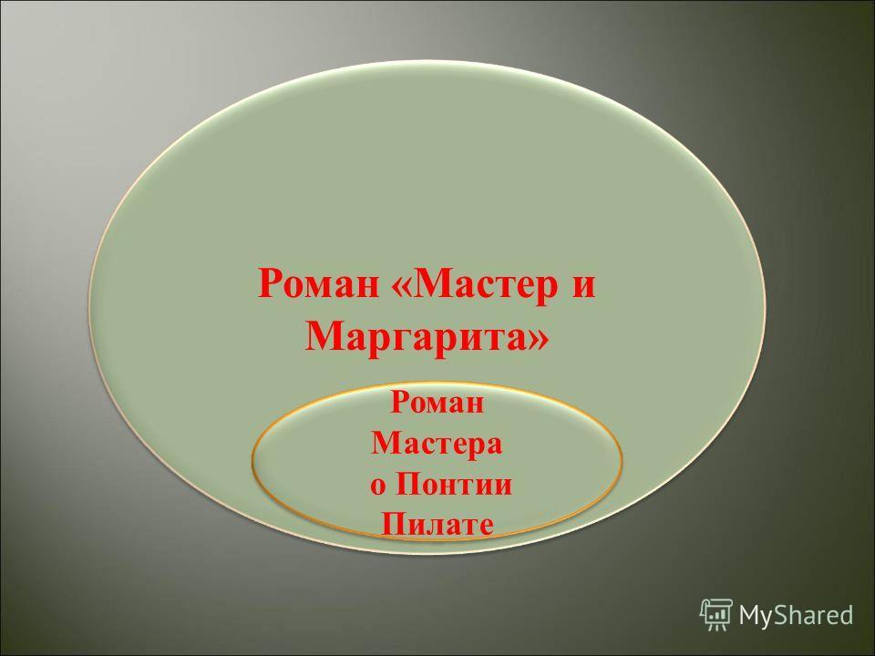 Роман «Мастер и Маргарита» Роман Мастера о Понтии Пилате