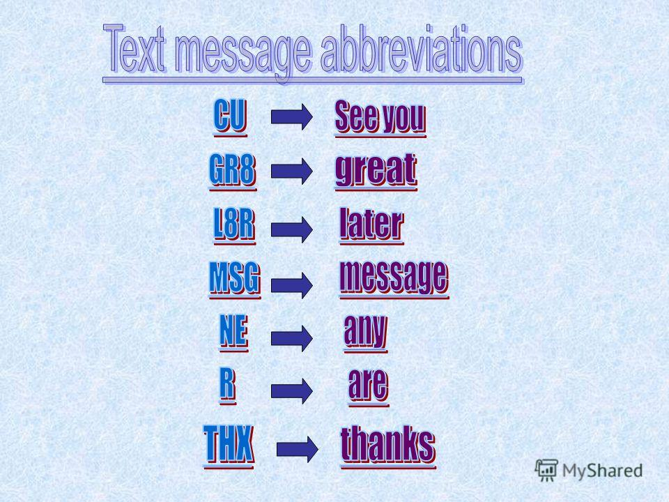 Texting is hard work on the thumbs. So it has developed its own language of abbreviations