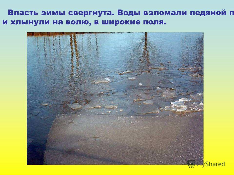 Власть зимы свергнута. Воды взломали ледяной поток и хлынули на волю, в широкие поля. Власть зимы свергнута. Воды взломали ледяной поток и хлынули на волю, в широкие поля.