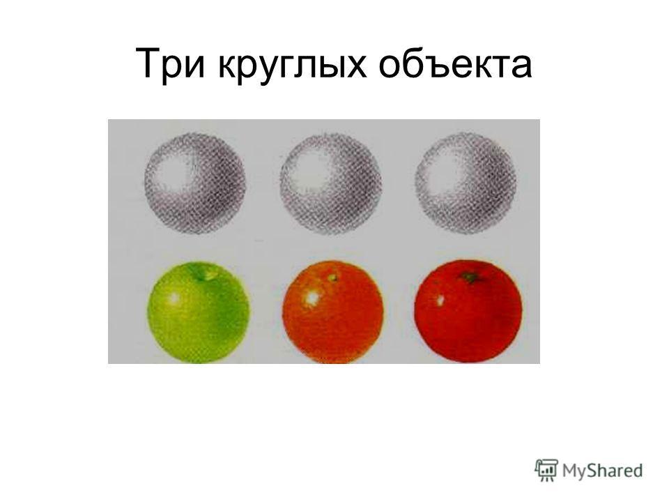 Три круглых объекта