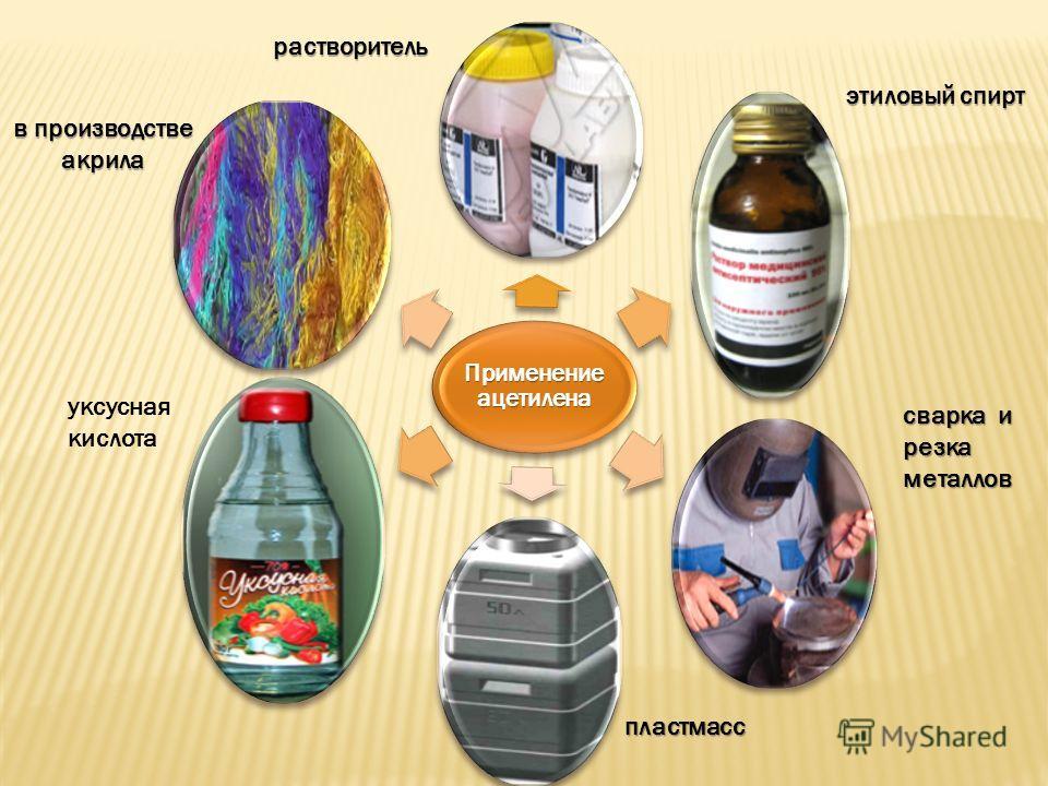 Применение ацетилена растворитель этиловый спирт сварка и резка металлов в производстве акрила уксусная кислота пластмасс