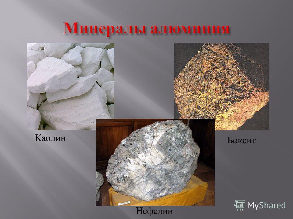 Каолин Боксит Нефелин