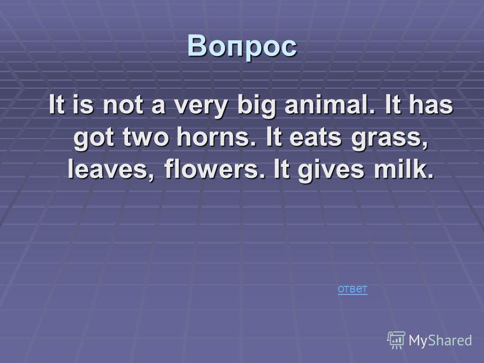 a cow Ответ
