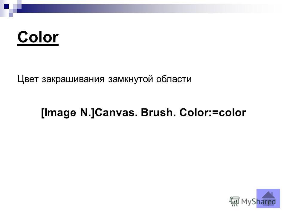 Color Цвет закрашивания замкнутой области [Image N.]Canvas. Brush. Color:=color