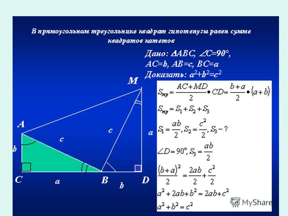 c a b-ab-ab-ab-a b a a b c Еще один алгебраический способ доказательства теоремы. Доказательство Бхаскари (XII в.)