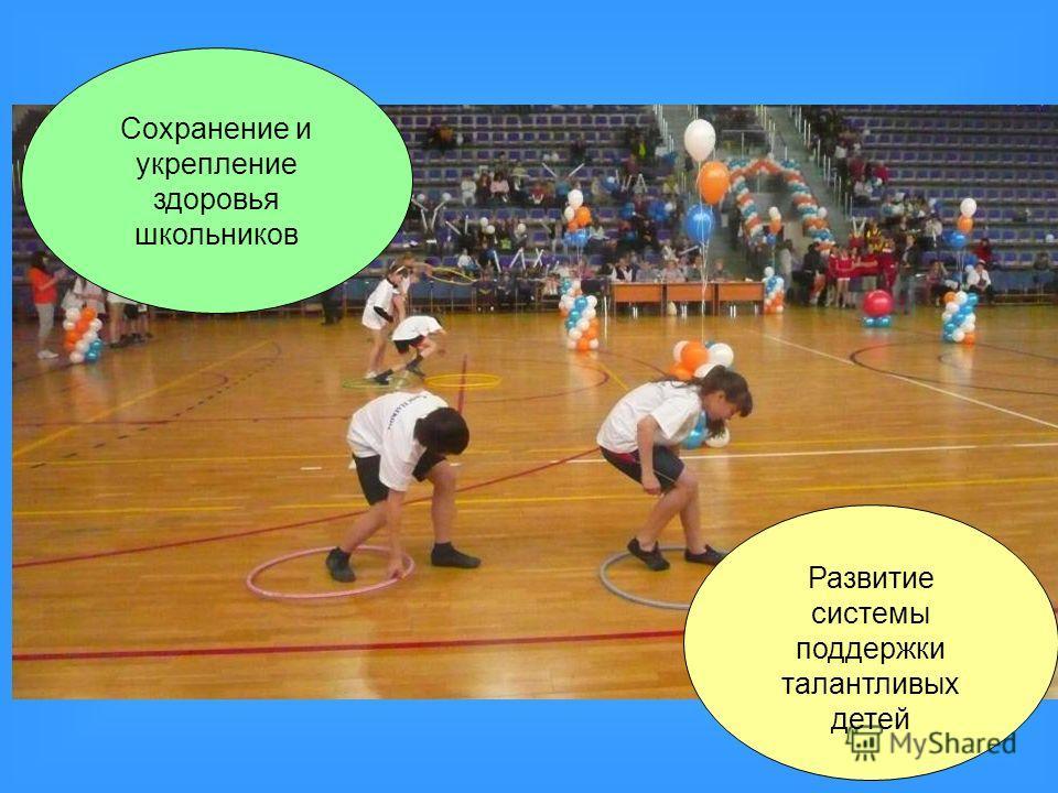 Сохранение и укрепление здоровья школьников Развитие системы поддержки талантливых детей
