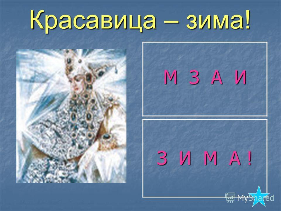 Красавица – зима! М З А И З И М А !