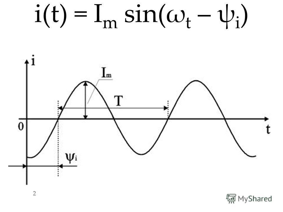 i(t) = I m sin(ω t – ψ i ) 2 2