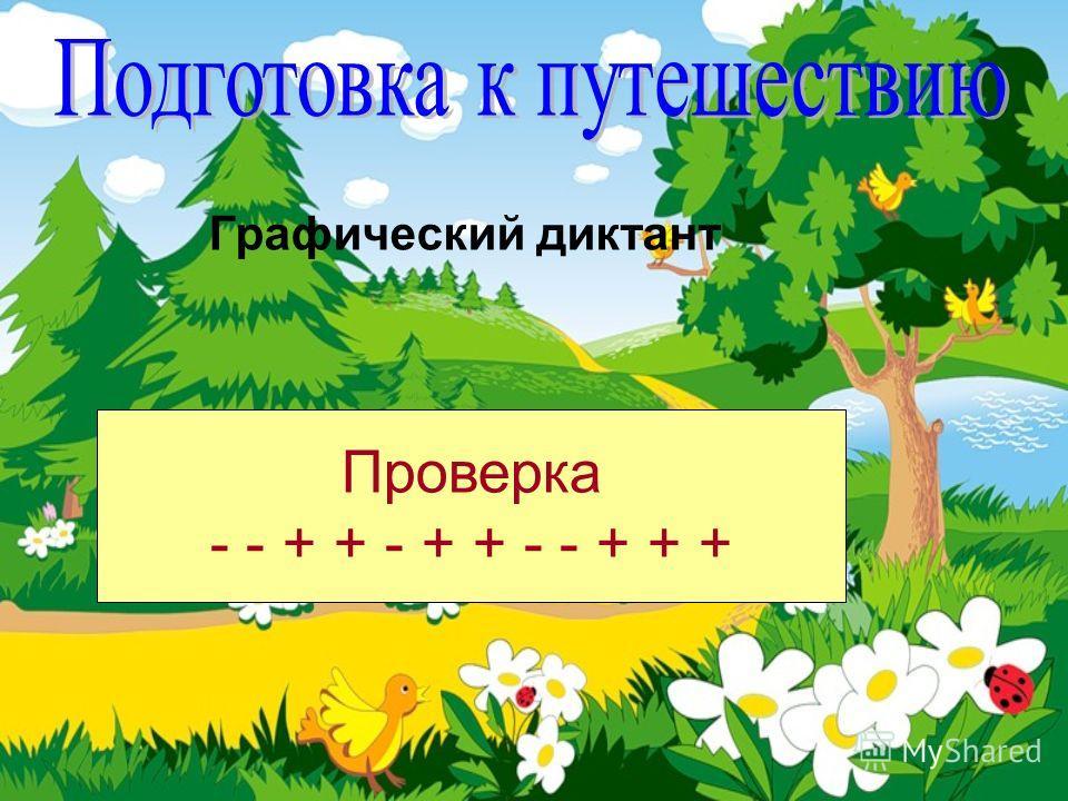 Графический диктант Проверка - - + + - + + - - + + +