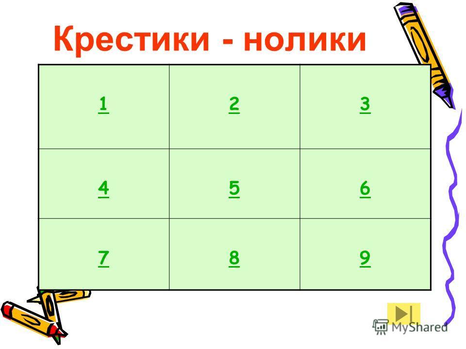 Крестики - нолики 123 456 789