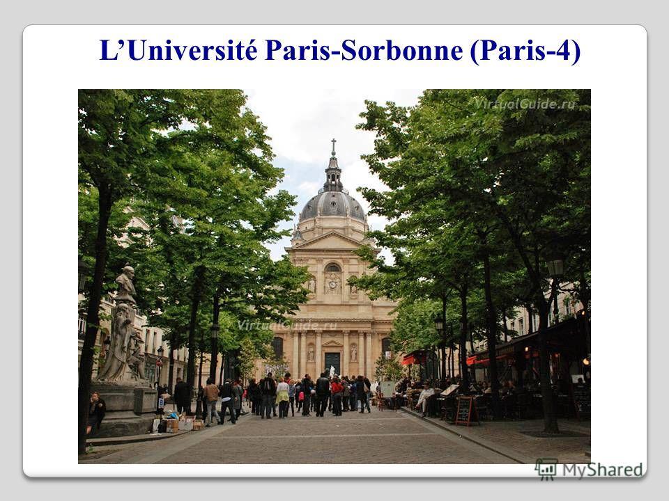LUniversité Paris-Sorbonne (Paris-4)