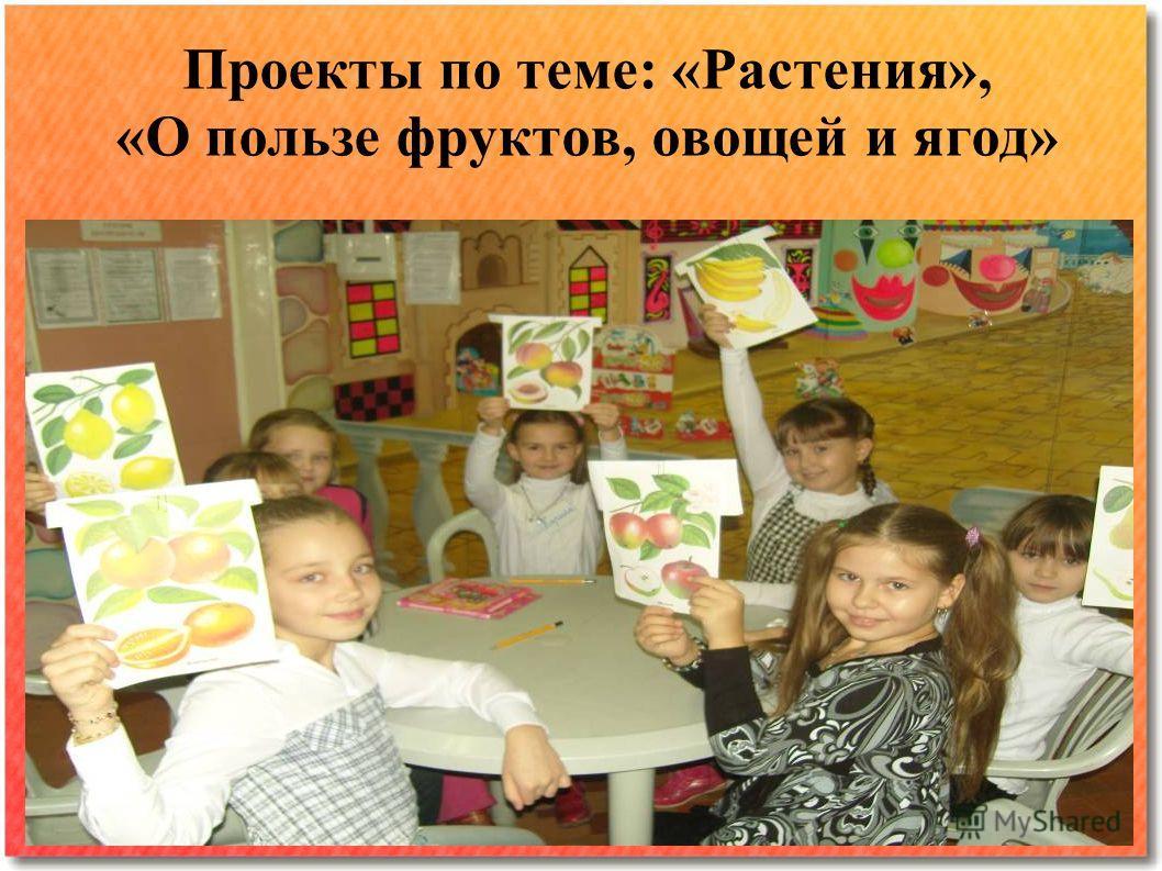 Проекты по теме: «Растения», «О пользе фруктов, овощей и ягод»