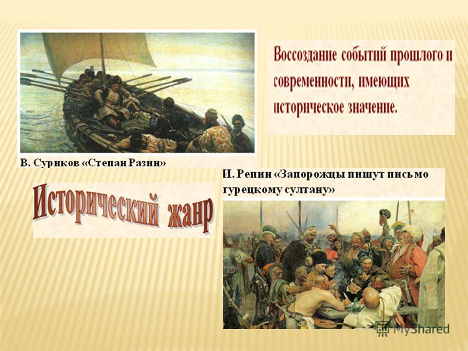 П.Учелло. Битва. Т. Жерико Конный офицер. В. Суриков. Покорение Сибири.