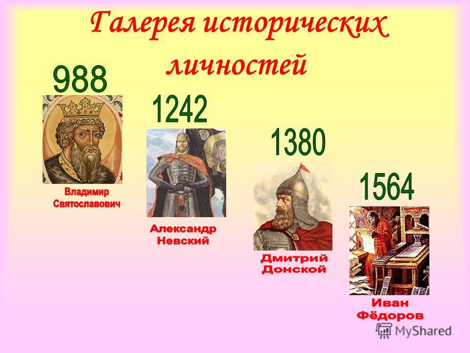 Галерея исторических личностей