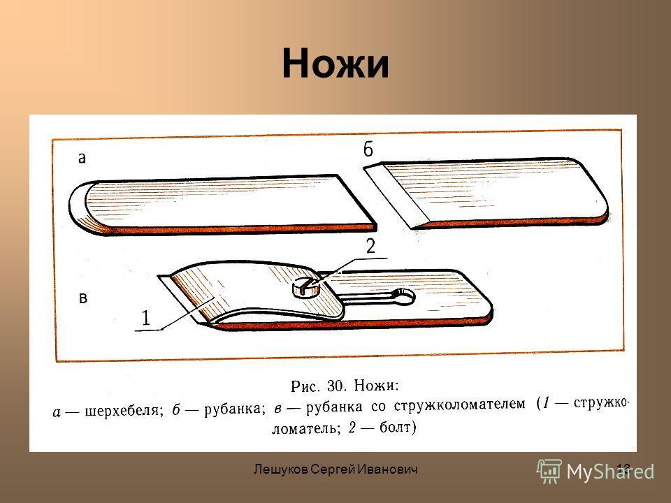 Лешуков Сергей Иванович13 Ножи