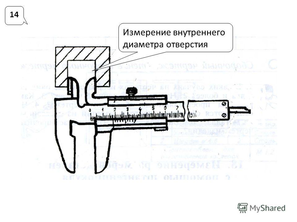 14 Измерение внутреннего диаметра отверстия