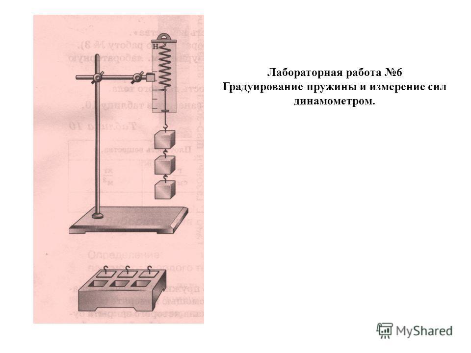 Лабораторная работа 6 Градуирование пружины и измерение сил динамометром.