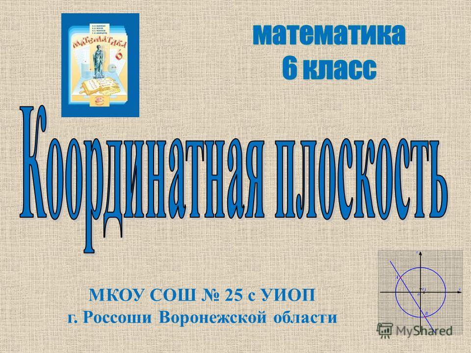 МКОУ СОШ 25 с УИОП г. Россоши Воронежской области
