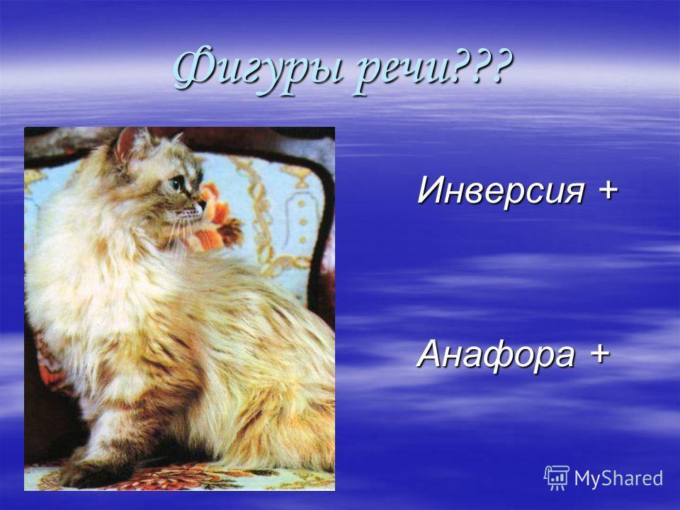 Фигуры речи??? Инверсия + Инверсия + Анафора + Анафора +