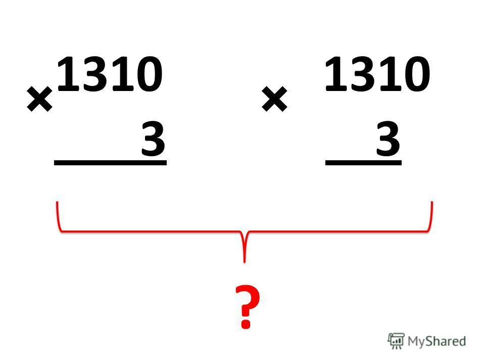1310 3 3 ×× ?