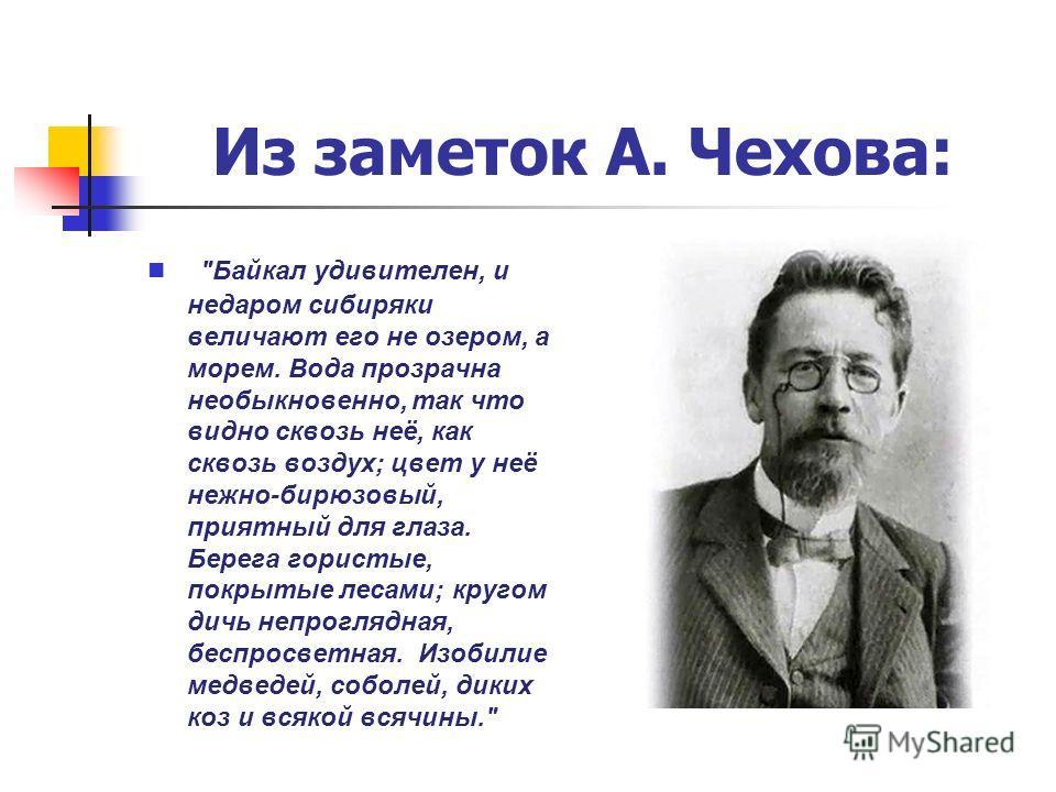 Из заметок А. Чехова: