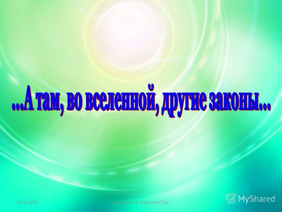 03.12.2013Базуева Н.В. Гайнская СОШ1