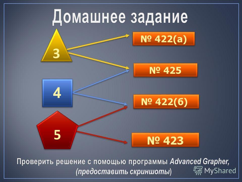 422(а) 425 423 3 3 4 422(б) 5 5