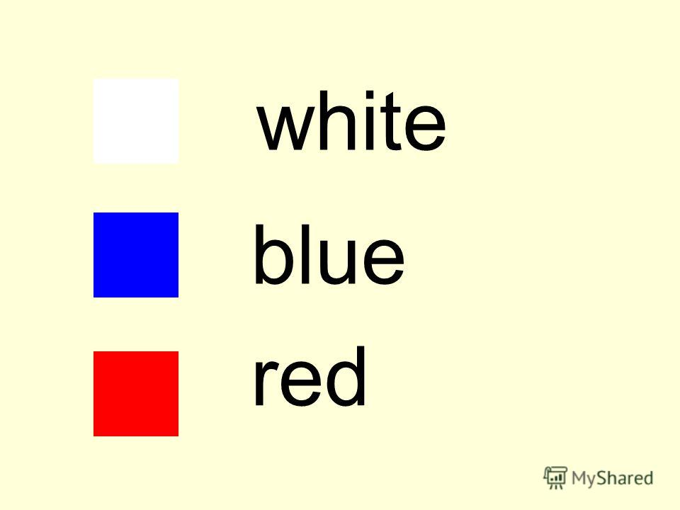 white blue red