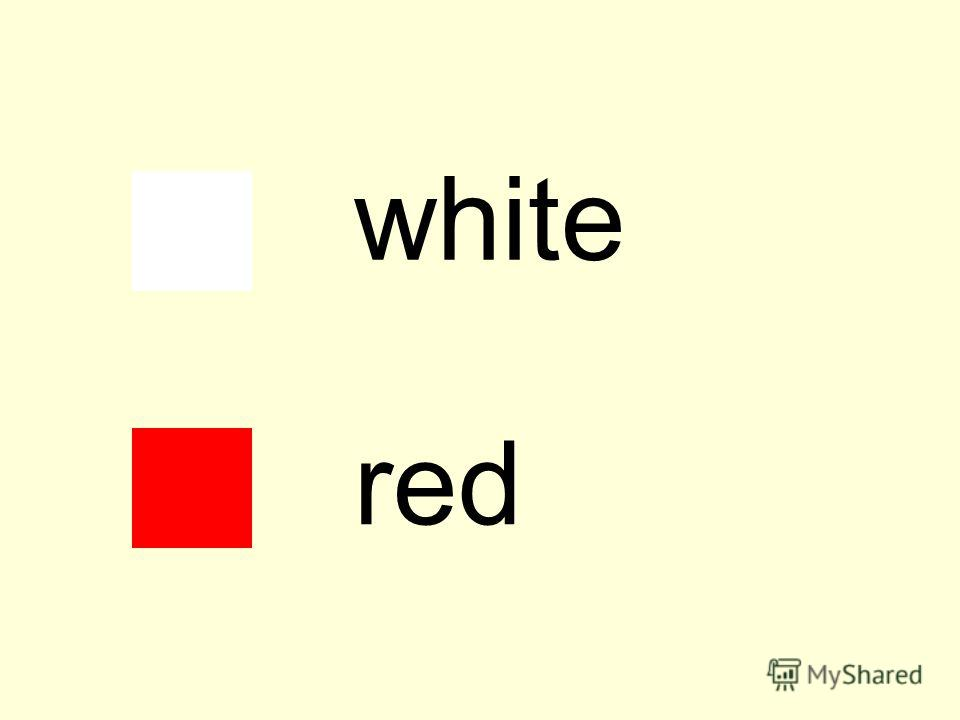 white red