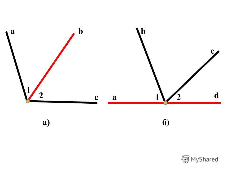 ab c 1 2 a d b c 12 а)б)