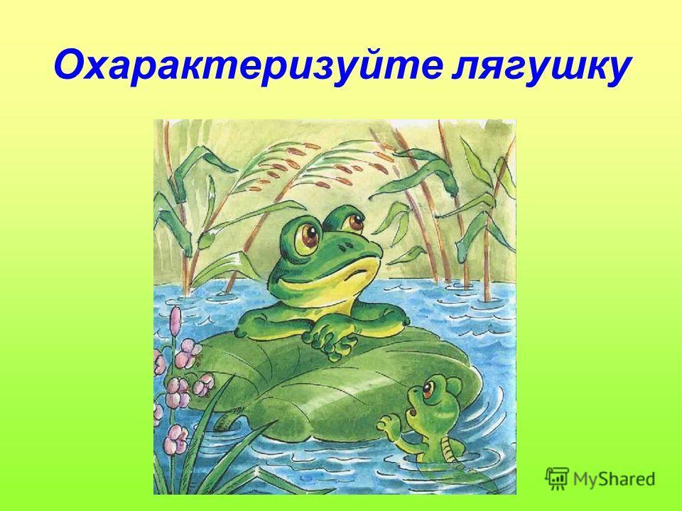 Охарактеризуйте лягушку