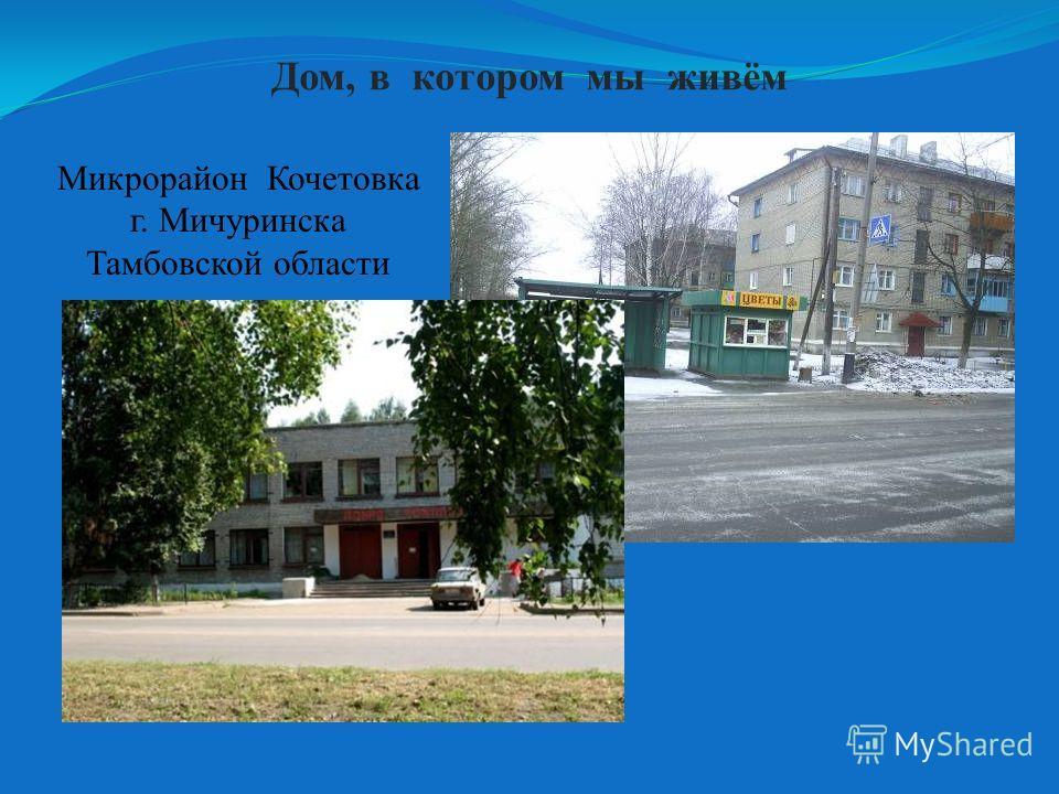 Дом, в котором мы живём Микрорайон Кочетовка г. Мичуринска Тамбовской области