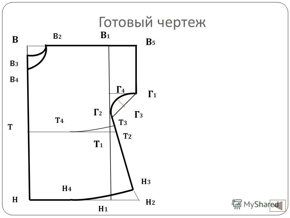 Готовый чертеж В Н Н1Н1 В2В2 В3В3 В4В4 В1В1 В5В5 Г1Г1 Г2Г2 Г4Г4 Г3Г3 Н2Н2 Н3Н3 Н4Н4 Т Т3Т3 Т2Т2 Т4Т4 Т1Т1