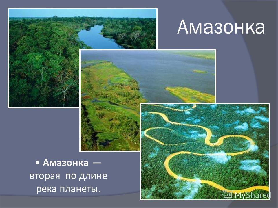 Амазонка Амазонка вторая по длине река планеты.