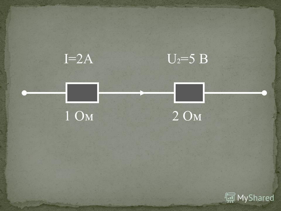 U 2 =5 B 1 Oм2 Ом