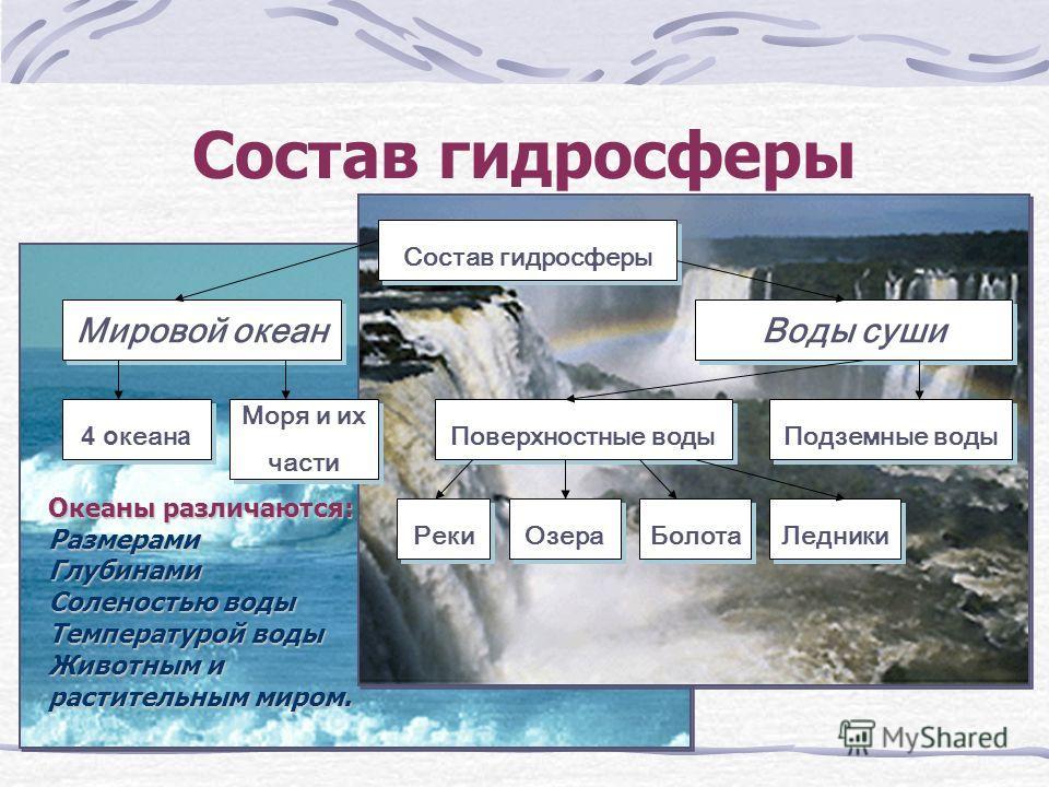 Состав гидросферы Мировой