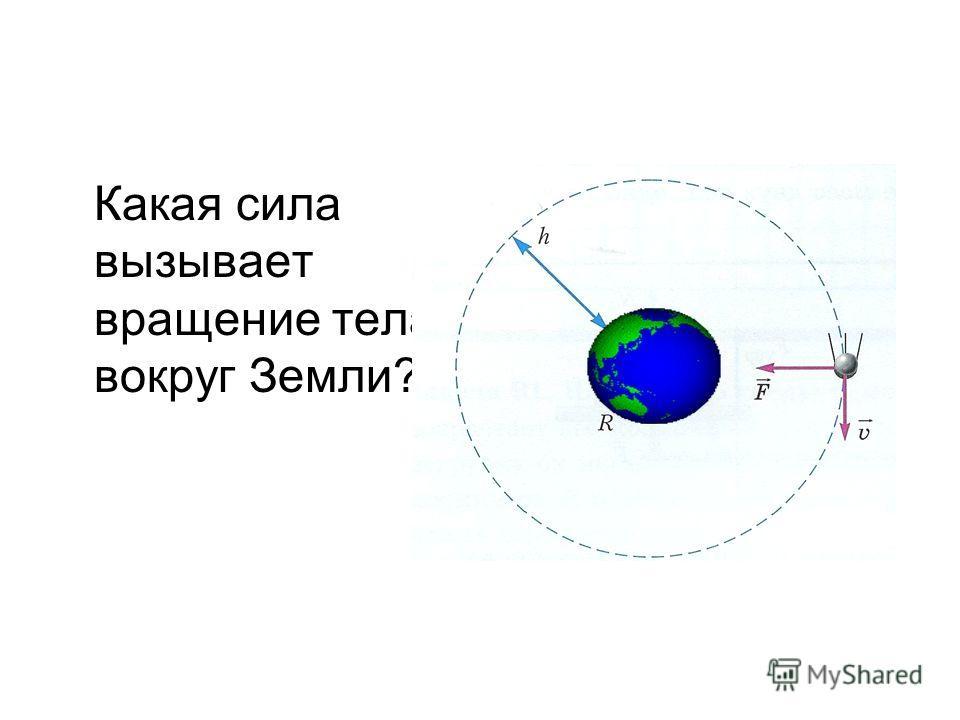 Какая сила вызывает вращение тела вокруг Земли?