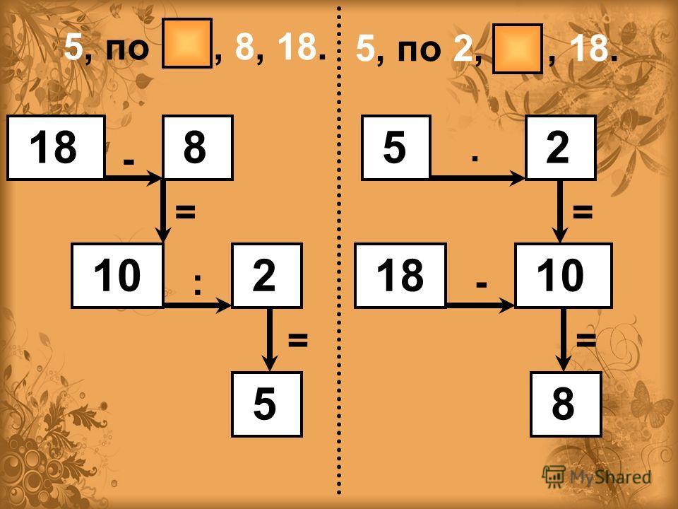 , по 2,8,18. 18 8 10 2 5 - = : =