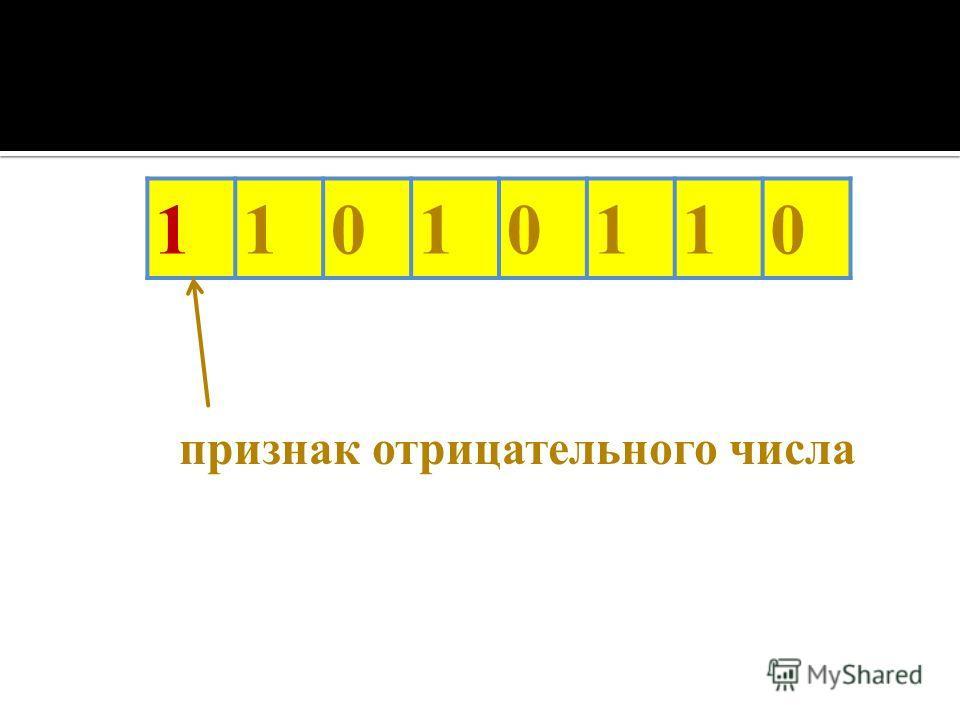 11010110 признак отрицательного числа