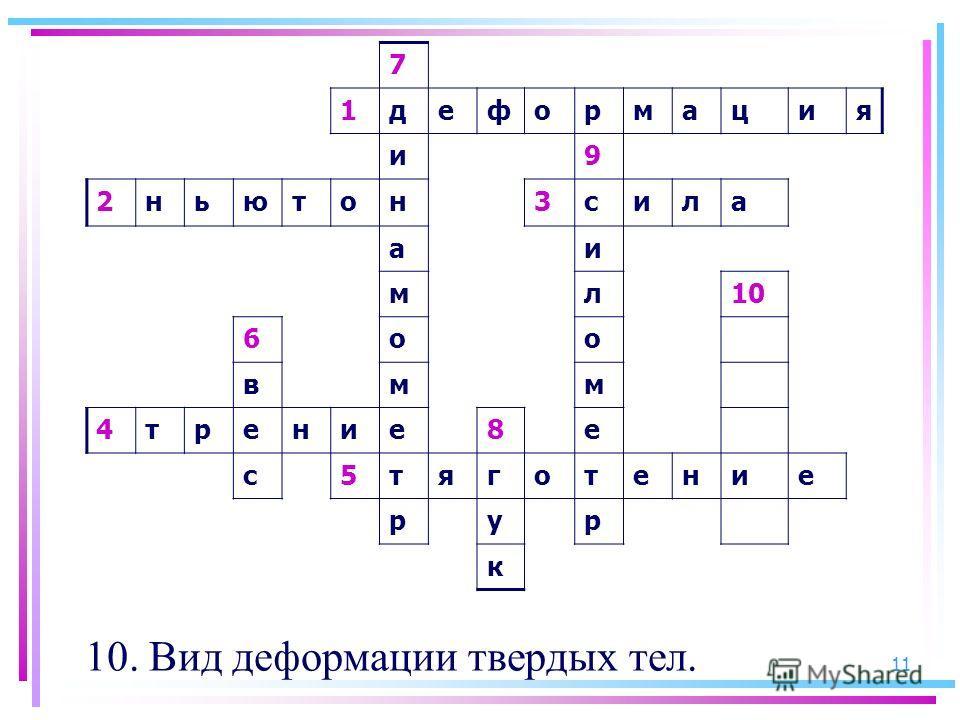 11 7 1деформация и9 2ньютон3сила аи мл10 6оо вмм 4трение8е с5тяготение рур к 10. Вид деформации твердых тел.